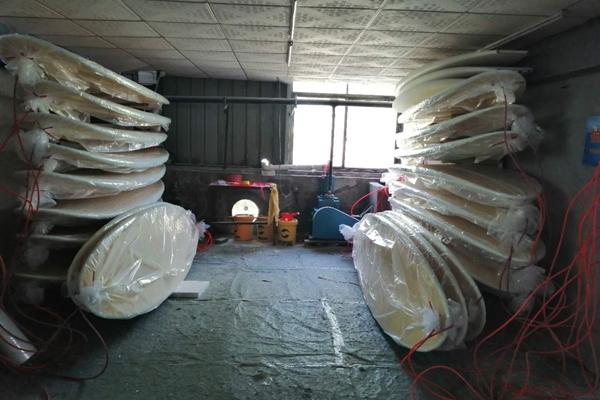 evacuated chamber